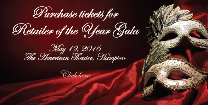 Purchase tickets for Retailer of the Year Awards Gala now!