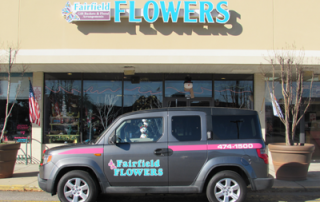 fairfield flowers car shopfront