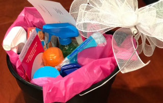 Domestic Divas Gift Basket and Gift Certificate for Cleaning Service