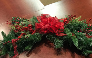 """Decorative Christmas """"Swag"""" with Battery Operated Lights from Mary Barnetts"""