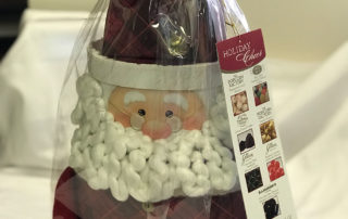 Park Lawn Funeral Home Food Basket and Santa structure