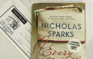 Prince books Autographed Copy of Every Breath by Nicholas Sparks