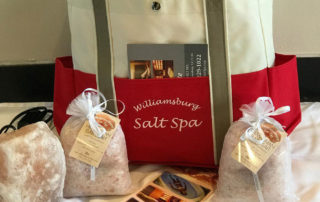 Williamsburg Salt Spa gift basket