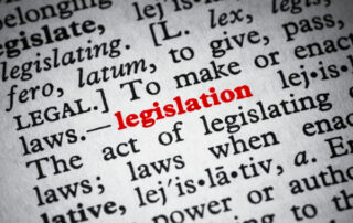 Image of words related to legislation
