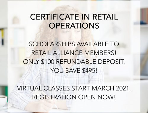 Scholarships Open for 2021 Certificate in Retail Operations!